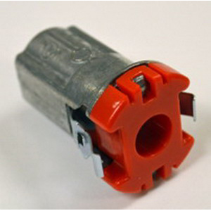 Bridgeport 38ACDS Cut In Double-Snap Cable Connector; 3/8 Inch, Die-Cast Zinc