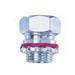 Bridgeport CG770-560 Straight Liquidtight Cord Grip Connector; 1/2 Inch, 0.450 - 0.550 Inch Dia, Steel