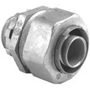 Bridgeport 439-LT2 Straight Liquidtight Connector; 4 Inch, Die-Cast Zinc