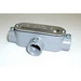 Bridgeport T-42CGC Series 5 Type T Combination Conduit Body With Cover and Gasket; 3/4 Inch, Aluminum, Set-Screw x FNPT
