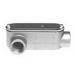 Bridgeport LR-49CG Series 5 Type LR Conduit Body With Cover and Gasket; 3-1/2 Inch, Aluminum, FNPT