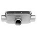 Bridgeport T-50CG Series 5 Type T IMC Conduit Body With Cover and Gasket; 4 Inch, Aluminum, FNPT