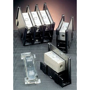 Ferraz Shawmut 62154 Mini Power Distribution Block; 95 - 240 Amp, 600 Volt, Box To Box/Slotted Set Screw Connection, Copper Alloy/Thermoplastic Base