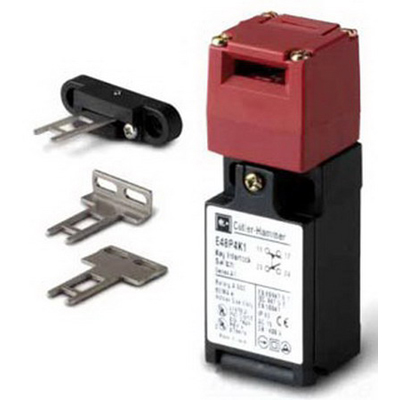Eaton / Cutler Hammer E48P4K1 Guard Door Interlock Limit Switch; 120/240/480/600 Volt AC, 1 NO/1 NC, DPDB, Key Actuator