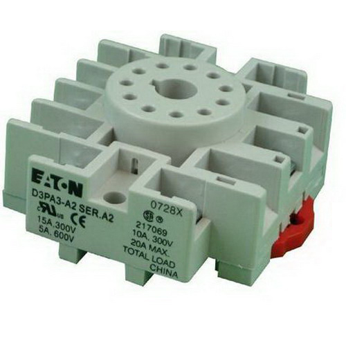 Eaton / Cutler Hammer D3PA3-A2 11-Pin Socket; For Monitoring Relays