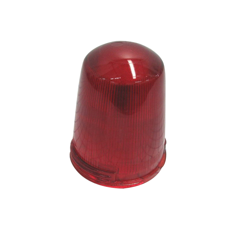Cooper Crouse-Hinds G57 Stippled Bottom Fluted Side Globe; Red