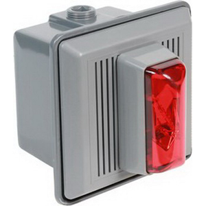 Edwards 867STRR-N5 860 Series Indoor Electronic Horn/Strobe; 120 Volt AC At 50/60 Hz, 0.021 Amp, Surface Mount, Red, 100 DB At 1 m/90 DB at 10 ft Sensitivity