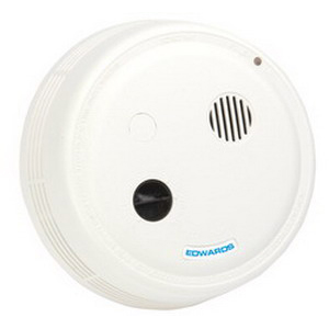 """""""""""Edwards 517TCB 517T Series Photoelectric Smoke Alarm With Horn and Battery Backup 120 Volt AC, 0.07 Amp, 85 DB At 10 ft Loudness, Surface/Wall/Ceiling Mount, White,"""""""""""" 498796"""