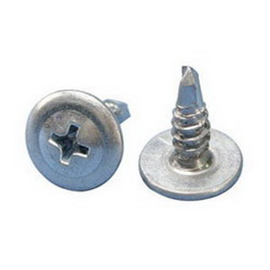 Erico SMS8 Phillips Low Profile Self-Drilling and Tapping Screw with Wafer Head; #8, 1/2 Inch Length, Electro Galvanized