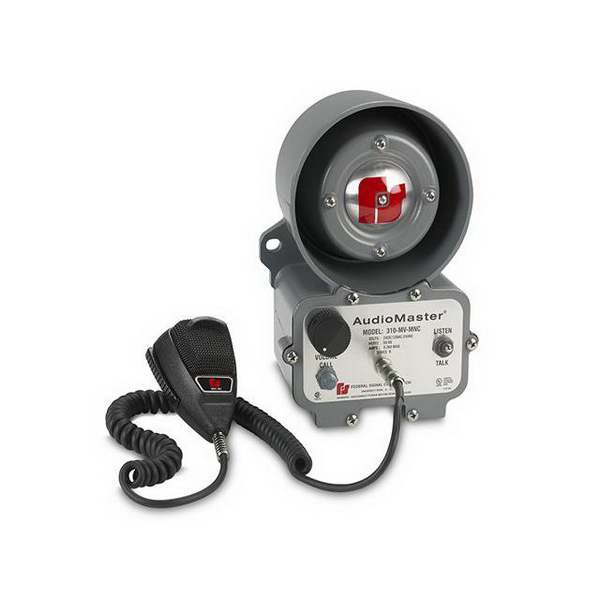 """""Federal Signal 310-MV-MNC AudioMaster Two-Way 1-Line Intercom With Noise Canceling Microphone 260 Milli-Amp at 24 Volt DC, 163 Milli-Amp at 120 Volt AC, 82 Milli-Amp at 240 Volt AC, 30 Watt,"""""" 32417"