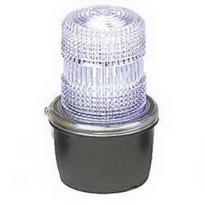 """""Federal Signal 131ST-120C Starfire Strobe Warning Light 120 Volt AC, 0.60 Amp, Clear, 1/2 Inch NPT Pipe Mount,"""""" 642421"