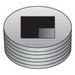 O-Z/Gedney PLG125RA Insert Plug; 1-1/4 Inch trade, Zinc-Plated Aluminum
