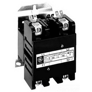 GE Controls CR353FF2BB1 Definite Purpose Magnetic Contactor; 2 Pole, 30 Amp, 208 - 240 Volt AC At 50/60 Hz Coil