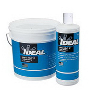 Ideal 31-371 Aqua-Gel® II Non-Flammable Cable Pulling Lubricant; 1 gal, Bucket, Clear Blue