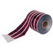 Ideal 42-251 Detectable Underground Tape; 1000 ft x 6 Inch x 5 mil, Caution Buried Fiber Optic Line Below, Solid Aluminum Foil Core, PE Bottom Layer, PET Top Layer, Black On Red Background