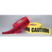 Ideal 42-001 Barricade Tape; 1000 ft x 3 Inch x 4 mil, Caution, Polyethylene, Black On Yellow Background