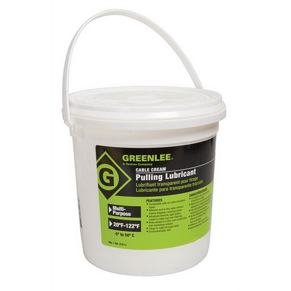 Greenlee CRM-1 Cable-Cream® Non-Hazardous Cable Pulling Lubricant; 1 gal, Bucket, Opaque/Yellow