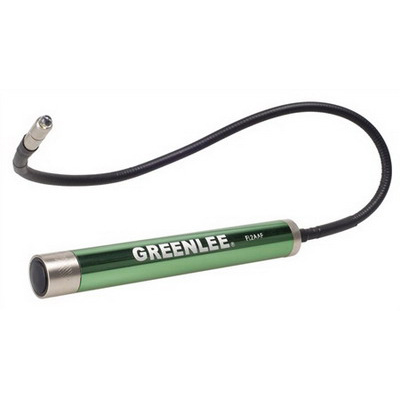 Greenlee FL2AAF Flexible Flashlight; 7 Lumens, 50000 Hour Battery, 100 Hour Lamp, 2, AA Batteries, Aluminum, Green Housing