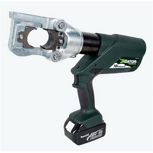"""Greenlee E12CCXL11 Gator Battery Operated Crimping Tool 24000.000 lb Crimping Force, 18 Volt, 3.0 AMP-HR Lithium-Ion Battery, 16-1/2 Inch Length,"""""""