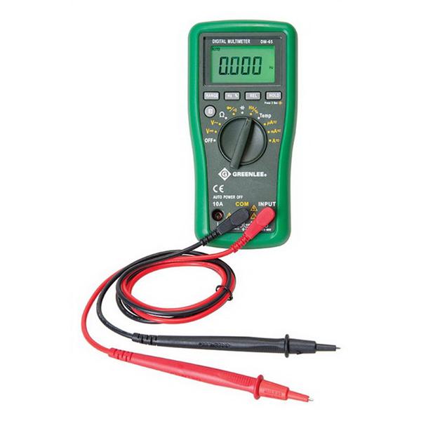 "Greenlee DM-45 Auto Ranging Digital Multimeter 600 Volt, 10 Amp,"""