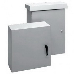 """""Hoffman ECL1209030CH Comline Enclosure Wall Mount, Type 5052-H32 Aluminum, RAL 7035 Light Gray,"""""" 49698"