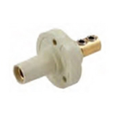 Hubbell Wiring HBL15FRBK Single Pin Female Receptacle; 150 Amp, 600 Volt AC/250 Volt DC, Brass/Thermoplastic, 1-Pole, Black
