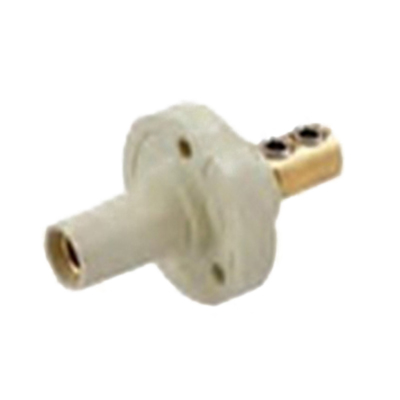 Hubbell Wiring HBL15FRW Single Pin Female Receptacle; 150 Amp, 600 Volt AC/250 Volt DC, Brass/Thermoplastic, 1-Pole, White