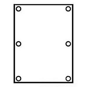 Hubbell Electrical / Killark 7996-2 Blank Mounting Pan; Sheet Aluminum, Gray, For Use with EXB, XB and XJB Series 8 Inch Width x 10 Inch Height Enclosures