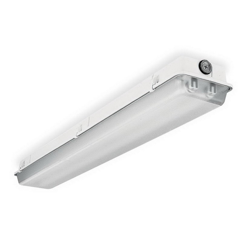 Lithonia Lighting / Acuity WC-2-32-MVOLT-GEB10IS WC-Series Wall Bracket Fluorescent Fixture; 64 Watt, 120/277 Volt, 2-Lamps, Wall Mount, Extruded Aluminum Housing, White
