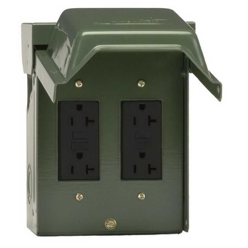 Pedestal Electrical Outlets : Midwest u grp unmetered duplex underground feed