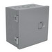 Milbank 18186-HC1 Junction Box; 18 Inch Width x 6 Inch Depth x 18 Inch Height, Polyester Powder-Coated, Hinged Cover