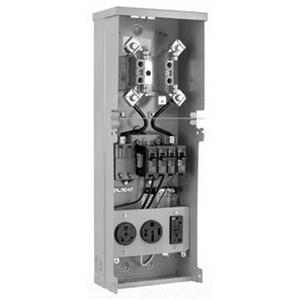 Milbank U5100-XL-55 Metered Power Outlet; 120/240 Volt AC, 125 Amp, 16 Gauge Steel, Surface Mount