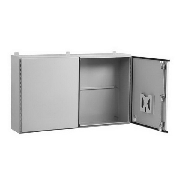 Milbank A-DD4848 Sub Panel Steel  Fits 48 Inch Width x 12 Inch Depth x 48 Inch NEMA 12 2-Door Enclosures