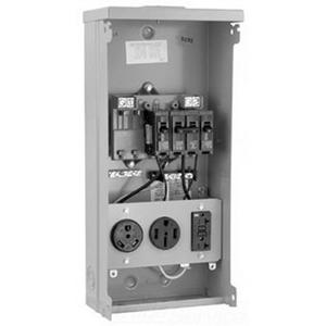 Milbank U5000-XL Unmetered Power Outlet; 120/240 Volt AC, 125 Amp, 16 Gauge Steel, Surface Mount