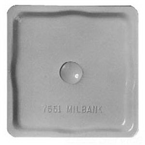 Milbank A7551 Removable Hub Closing Plate; Aluminum