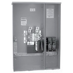 Milbank U5893-X-2/200 Meter/Breaker Combination With Lever Bypass; 120/240 Volt, 320 Amp, 4 Terminal, Surface Mount