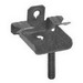 Minerallac BC18ST 2-Hole Hammer On Beam Clamp With Stud; 1/4-20, Threaded, Spring Steel, Zinc Phosphate and Oil