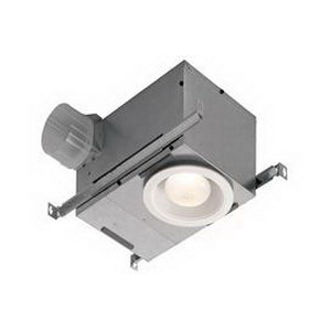 Broan Nu-Tone 744NT Recessed Ventilation Fan/Light; 120 Volt, 1.2 Amp, 70 cfm At 0.10 Inch/55 cfm At 0.25 Inch, 1.5 Sones, 4 Inch Duct, Ceiling Mount, Matte White