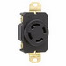 Pass & Seymour L1930-R Turnlok Locking Single Receptacle; 277/480 Volt AC, 4-Pole, 10-14 AWG, Thermoplastic, Black/White
