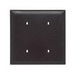 Pass & Seymour TP24-BK tradeMaster® 2-Gang Standard Size Unbreakable Blank Plate; Nylon, Black, Strap Mount