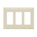 Pass & Seymour SP263-LA 3-Gang Standard Size Decorator Wallplate; Thermoset Plastic, Light Almond, Wall Mount