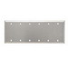Pass & Seymour SS63 6-Gang Blank Plate; 302/304 Stainless Steel, Silver, Box Mount