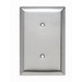 Pass & Seymour SSO14 1-Gang Jumbo Size Blank Plate; 302/304 Stainless Steel, Silver, Strap Mount
