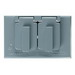 Pass & Seymour CA8-GH Duplex Receptacle Weatherproof Cover; Die-Cast Zinc, Gray