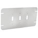 Garvin GBTC-3 3-Gang Flat Box Cover; Steel, Silver, Box Mount