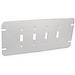 Garvin GBTC-4 4-Gang Flat Box Cover; Steel, Silver, Box Mount