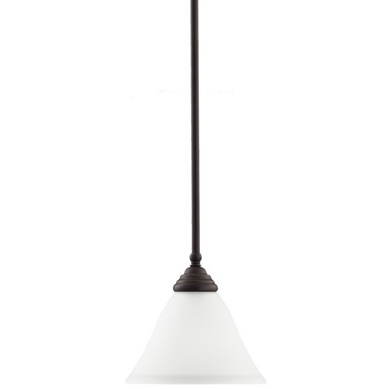 Sea Gull 61575-782 Albany Collection 1-Light Mini-Pendant Light; 100 Watt, 120 Volt, Ceiling Mount