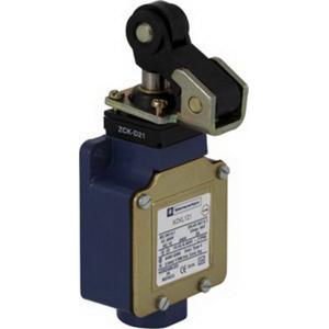 Schneider Electric / Square D XCKL121 OsiSense Limit Switch 10 Amp- 240 Volt AC- 250 Volt DC- 1 NO/1 NC- 30 Degree Cam/Spring Return Roller Lever Plunger Actuator-