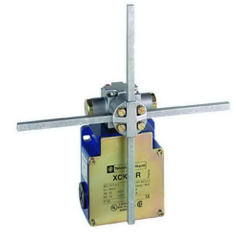 Schneider Electric / Square D XCKMR54D1H29 OsiSense Limit Switch 10 Amp- 240 Volt AC- 2 2 NC- Rotary Head/Metal Stay Put Crossed Rods Lever Actuator-