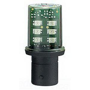 Schneider Electric / Square D DL1BKB4 Flashing LED; 24 Volt AC/DC, BA 15d Base, Red